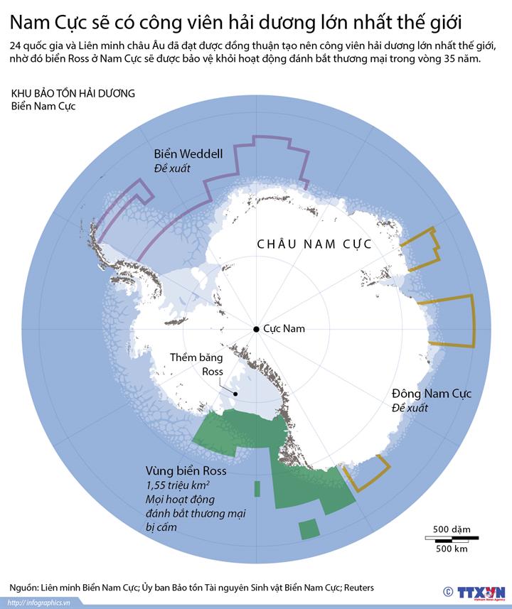 Nam Cực sẽ có công viên hải dương lớn nhất thế giới