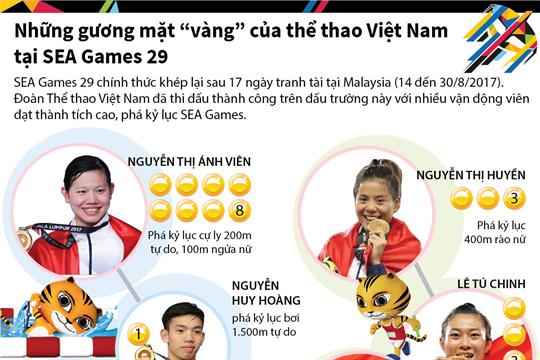 """Những gương mặt """"vàng"""" của thể thao Việt Nam tại SEA Games 29"""