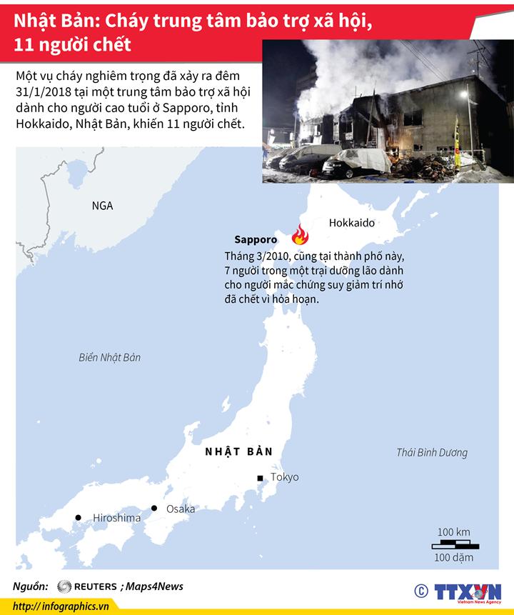 Nhật Bản: Cháy trung tâm bảo trợ xã hội, 11 người chết