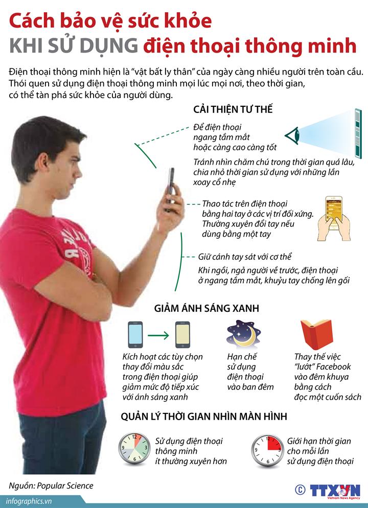 Cách bảo vệ sức khỏe khi sử dụng điện thoại thông minh