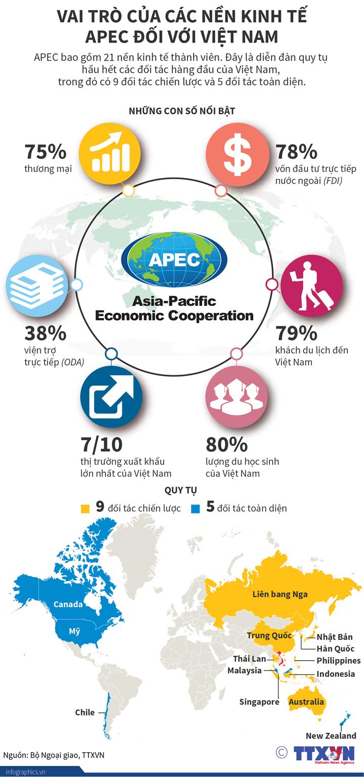 Vai trò của các nền kinh tế APEC đối với Việt Nam