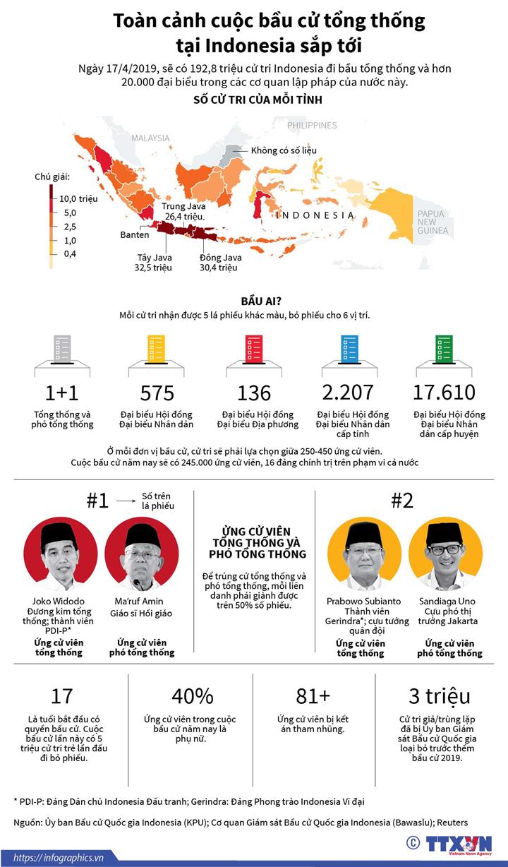 Toàn cảnh cuộc bầu cử tổng thống tại Indonesia sắp tới