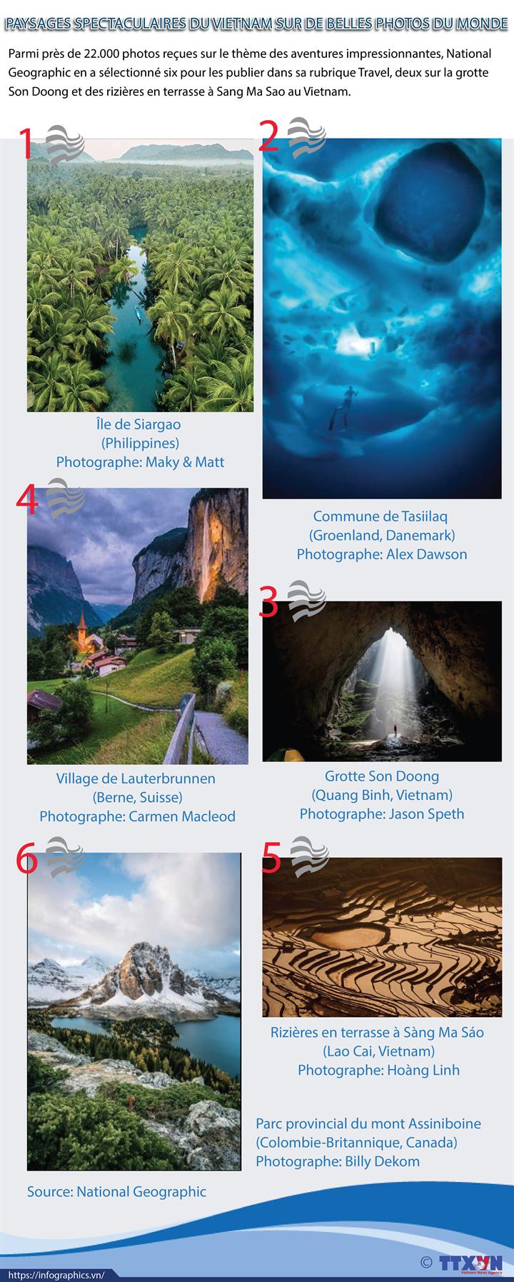 Paysages spectaculaire du Vietnam sur de belles photos du monde