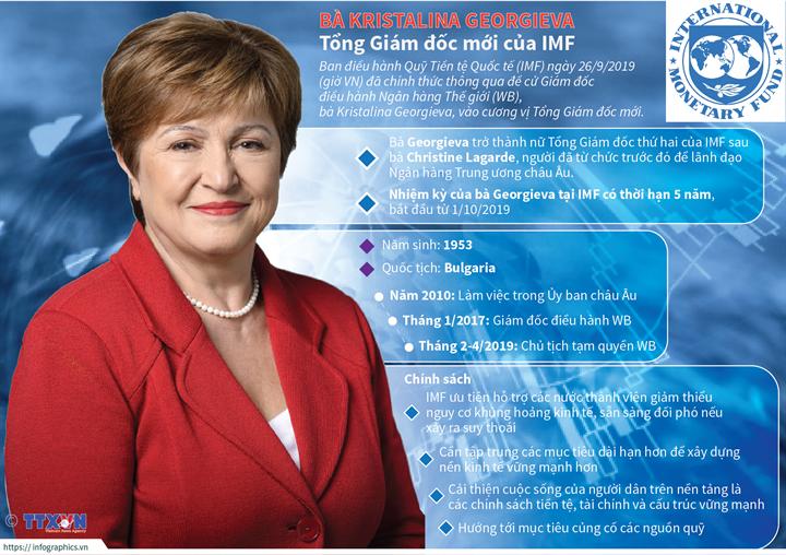 Bà Kristalina Georgieva - Tổng Giám đốc mới của IMF