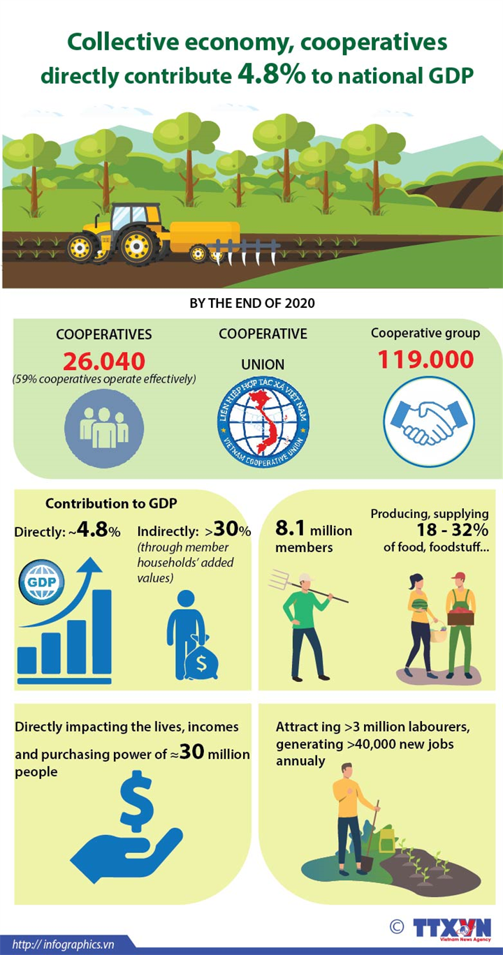 Collective economy, cooperatives directly contribute 4.8% to national GDP