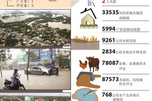 越南中部洪水造成10人死亡和失踪