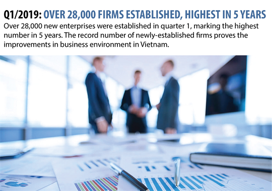 Q1/2019: over 28,000 firms established, highest in five years