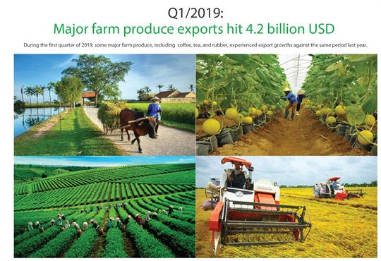 Major farm produce exports hit 4.2 billion USD in Q1