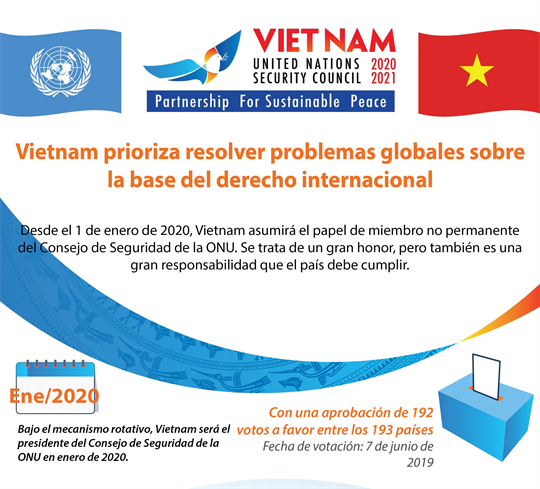 Vietnam prioriza resolver problemas globales sobre la base del derecho internacional