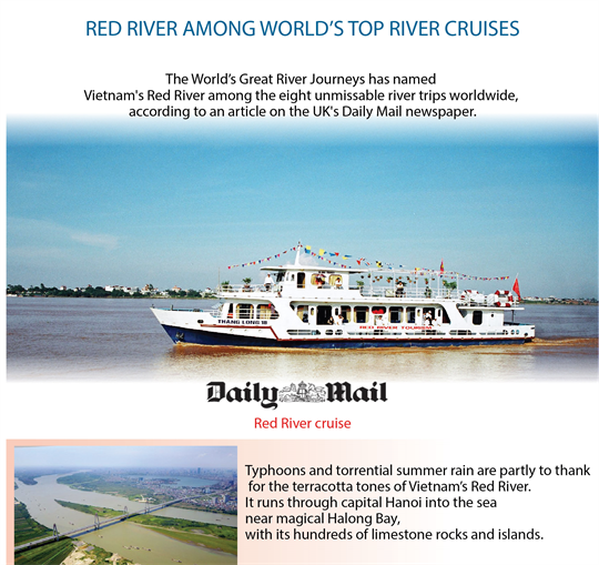Red River among world's top river cruises