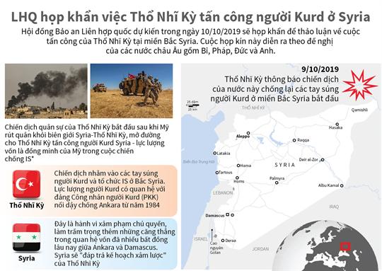 LHQ họp khẩn việc Thổ Nhĩ Kỳ tấn công người Kurd ở Syria