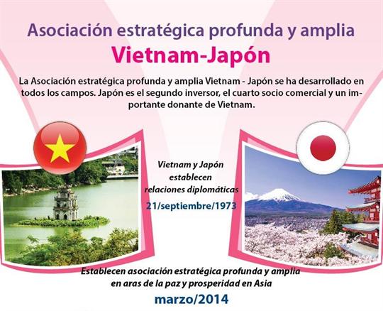 Asociación estratégica profunda y amplia Vietnam-Japón