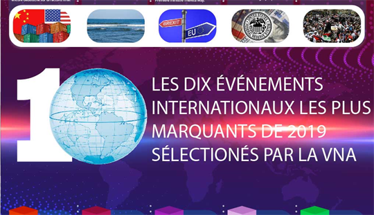 LES DIX ÉVÉNEMENTS INTERNATIONAUX LES PLUS MARQUANTS DE 2019 SÉLECTIONÉS PAR LA VNA