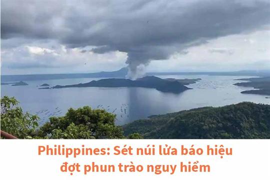 Philippines: Sét núi lửa báo hiệu đợt phun trào nguy hiểm