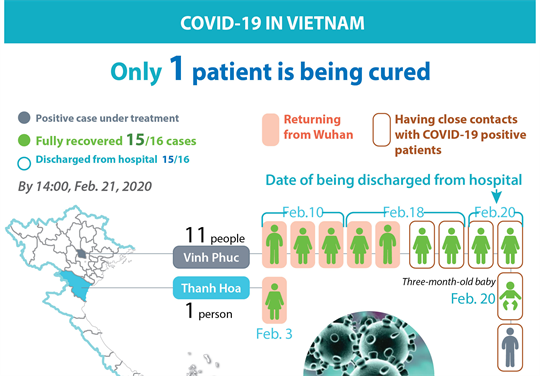 Only one Covid-19 patient under treatment in Vietnam