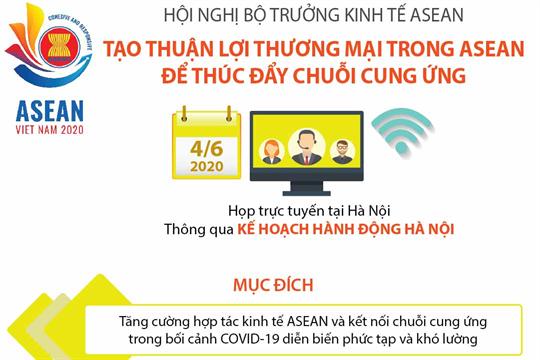 Hội nghị Bộ trưởng kinh tế ASEAN: Tạo thuận lợi thương mại trong ASEAN để thúc đẩy chuỗi cung ứng