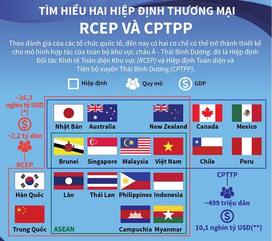 Tìm hiểu hai hiệp định thương mại RCEP và CPTPP