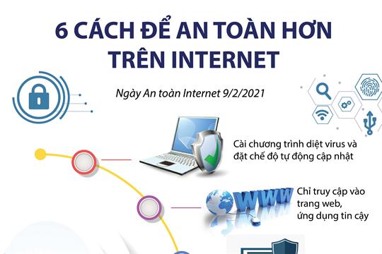 6 cách để an toàn hơn hưu trên Internet (Ngày An toàn Internet 9/2/2021)