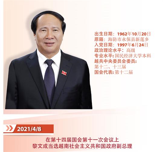 越南社会主义共和国政府副总理 黎文成