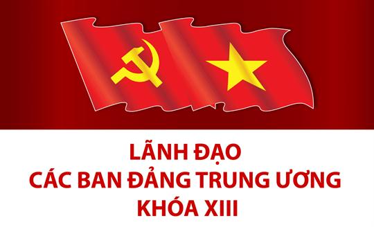 Lãnh đạo các ban Đảng Trung ương khóa XIII