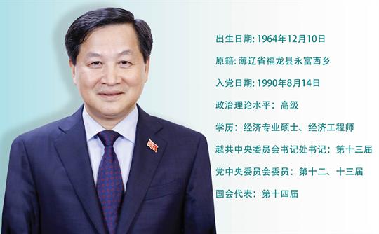 越南社会主义共和国副总理 黎明慨