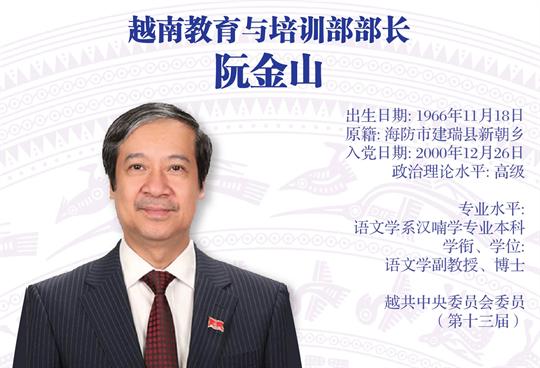 越南教育与培训部部长  阮金山