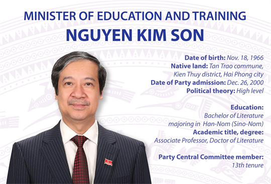 Minister of Education and Training Nguyen Kim Son
