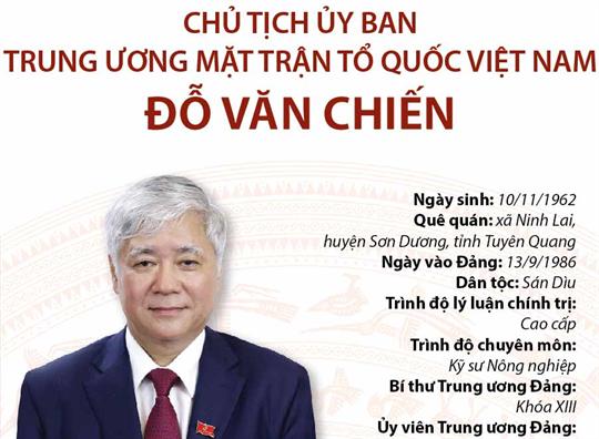 Chủ tịch Ủy ban Trung ương Mặt trận Tổ quốc Việt Nam Đỗ Văn Chiến