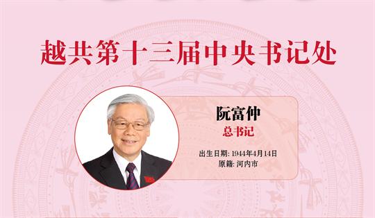 图表新闻:越共第十三届中央书记处