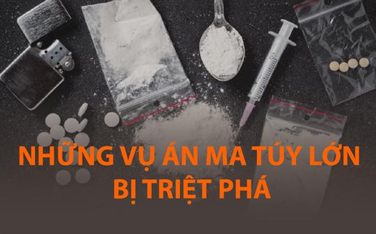 Những vụ án ma túy lớn bị triệt phá
