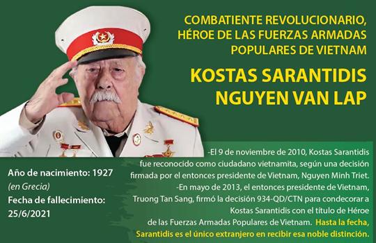 Kostas Sarantiris, Héroe de las Fuerzas Armadas Populares de Vietnam