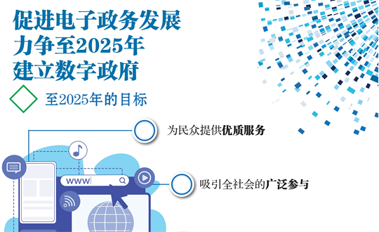 促进电子政务发展 力争至2025年建立数字政府
