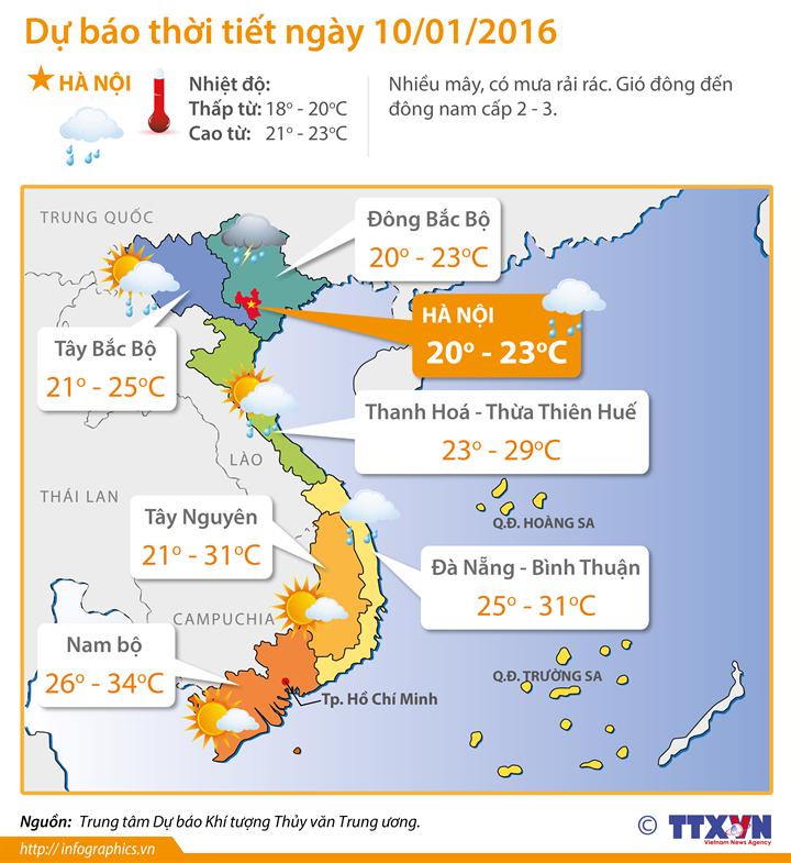 Từ ngày mai, các tỉnh phía Đông Bắc Bộ trời chuyển rét