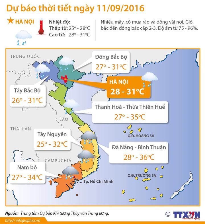 Xuất hiện vùng áp thấp trên biển Đông, mưa dông và gió mạnh trên vùng biển phía Nam