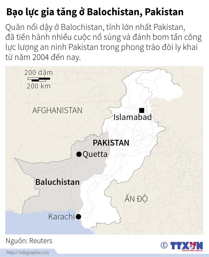 Bạo lực gia tăng ở Balochistan, Pakistan