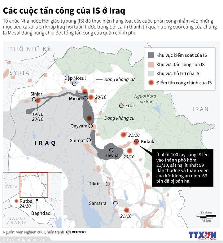 Các cuộc tấn công của IS ở Iraq
