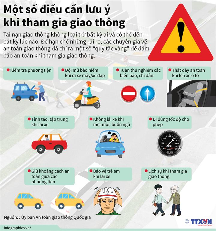 Một số điều cần lưu ý khi tham gia giao thông