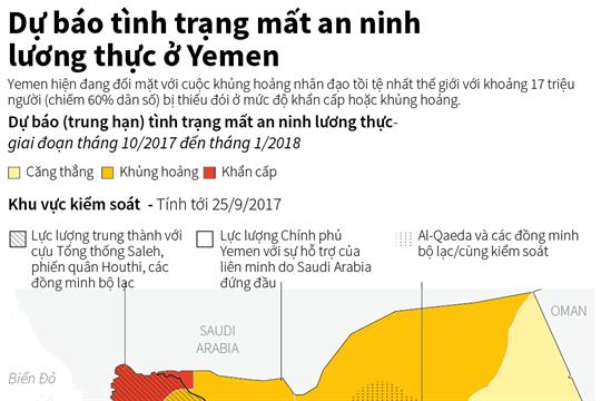 Dự báo tình trạng mất an ninh lương  thực ở Yemen