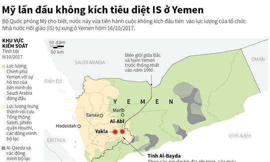 Mỹ lần đầu không kích tiêu diệt IS ở Yemen
