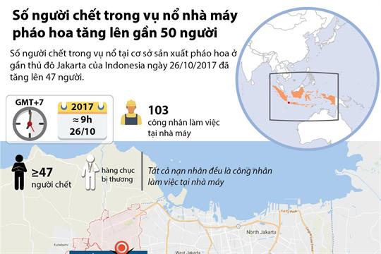 Số người chết trong vụ nổ nhà máy pháo hoa tăng lên gần 50 người
