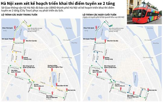 Hà Nội xem xét kế hoạch triển khai thí điểm tuyến xe 2 tầng