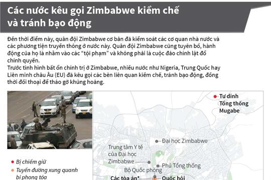 Các nước kêu gọi Zimbabwe kiềm chế và tránh bạo động