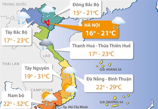Dự báo thời tiết ngày 21/11: Vùng núi và trung du phía Bắc rét đậm