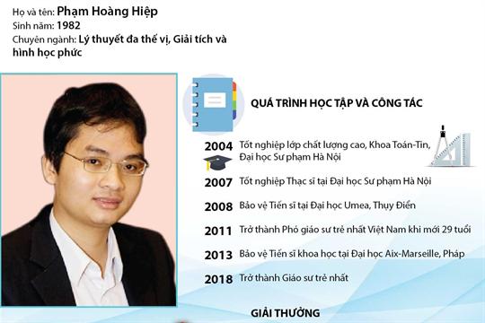 PGS.TSKH Phạm Hoàng Hiệp trở thành  Giáo sư trẻ nhất Việt Nam năm 2017