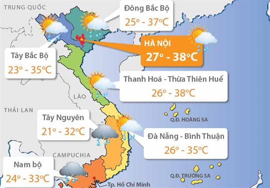 Dự báo thời tiết ngày 20/06/2018: Phía Bắc nắng nóng gay gắt
