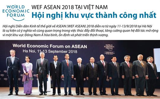 WEF ASEAN 2018 tại Việt Nam: hội nghị khu vực thành công nhất