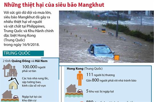 Những thiệt hại của siêu bão Mangkhut