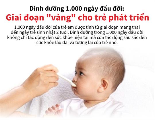 Dinh dưỡng 1.000 ngày đầu đời: Giai đoạn