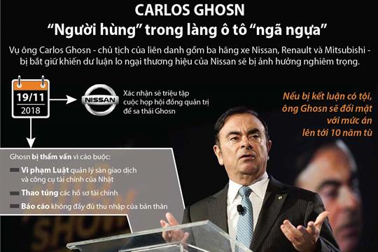 """Carlos Ghosn - """"Người hùng"""" trong làng ô tô """"ngã ngựa"""""""