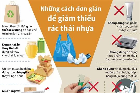 Những cách đơn giản để giảm thiểu rác thải nhựa